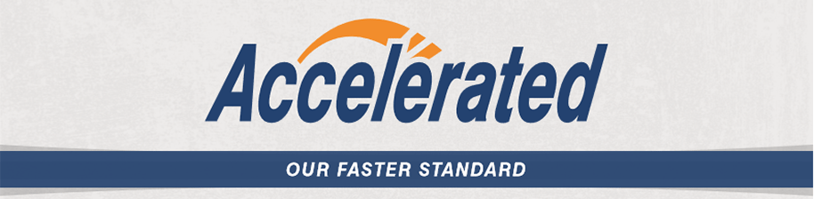 Accelerated is our Faster Standard Service.