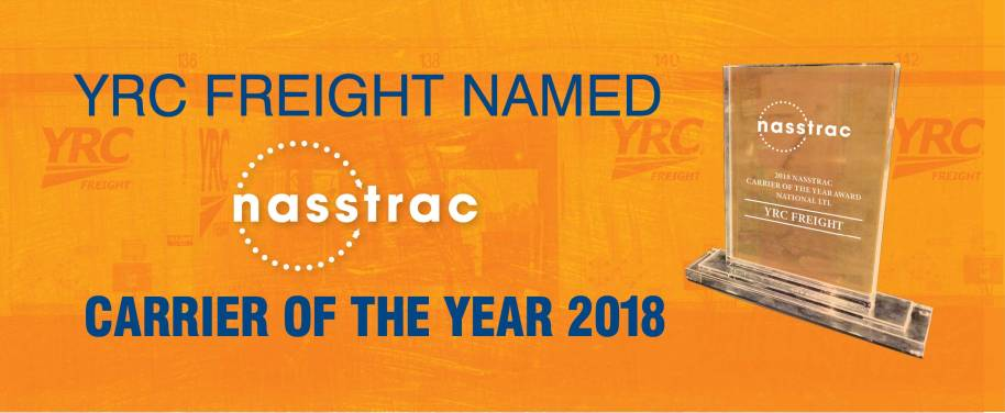 YRC Freight Named NASSTRAC National Carrier of the Year