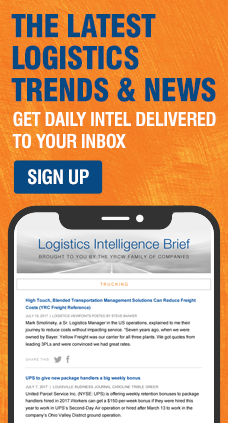 Sign up to receive daily logistics trends and news.